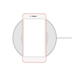 Phone on the cordless charger vector