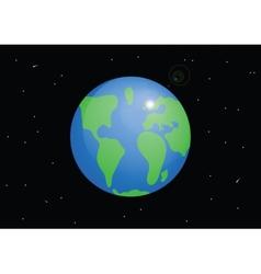 Planet earth cartoon vector