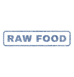 Raw food textile stamp vector