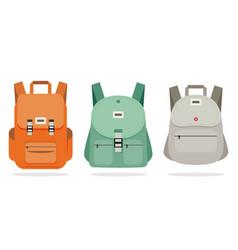 schoolbag flat bag for school vector image vector image