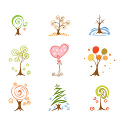 spring summer autumn winter vector image