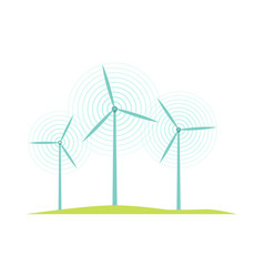 windmill icons isolated on white flat design style vector image