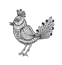 Zentangle stylized bird vector image vector image