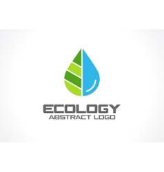 Abstract logo for business company eco nature vector