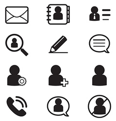 Social netwok user silhouette icons symbol vector