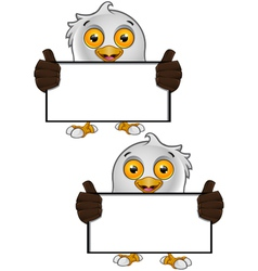 Bald Eagle Character 2 vector image