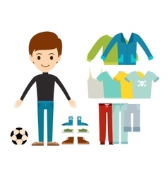 Beautiful cartoon fashion boy cloth vector