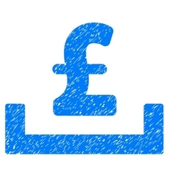 Pound deposit placement grainy texture icon vector
