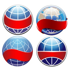 Earth globe set vector