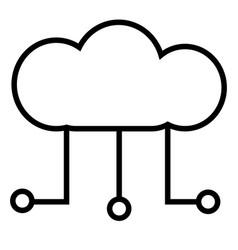 Digital cloud icon vector