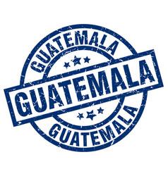 Guatemala blue round grunge stamp vector
