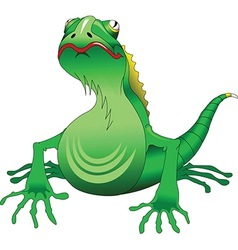 Green lizard vector