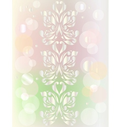 Retro floral background for valentine day vector