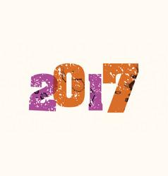 2017 concept stamped word art vector