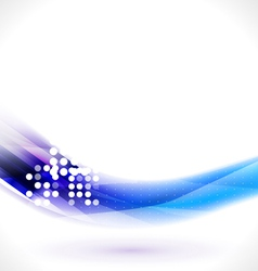 Abstract flow blue line for technology vector