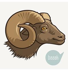 Head of ram vector image