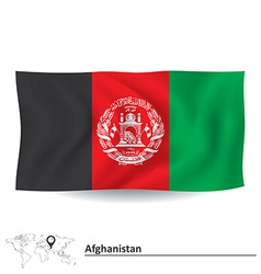 Flag of afghanistan vector