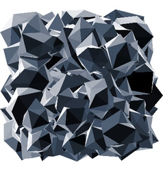 Black crystal shape over white vector