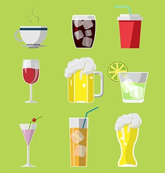 Beverage drink icons symbols set vector