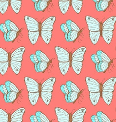 Sketch butterfly in vintage style vector