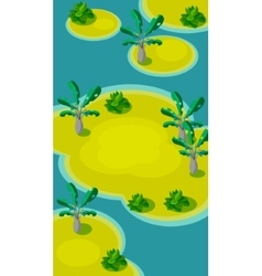 Vertical Landscape  Islands with Palm vector image