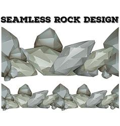 Seamless gray rock design vector image