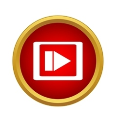 Video movie media player icon simple style vector