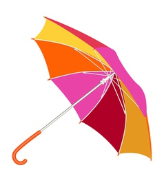 Multicolored umbrella vector