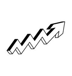 Arrow growth isolated icon vector