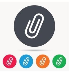 Attachment icon Paper clip sign vector image