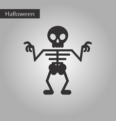 Black and white style icon halloween skeleton vector