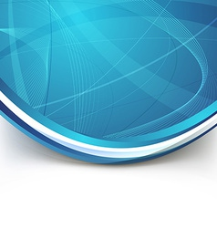 Blue border swoosh wave line modern background vector