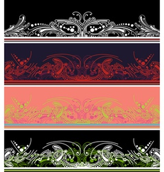 border design elements vector image vector image