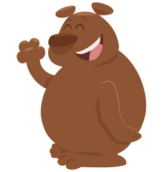 Cartoon bear animal character vector