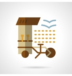 Coffee shop flat color icon vector image