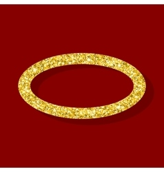 Golden figure elliptical ring vector