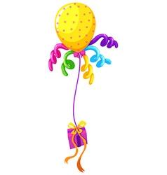 Helium balloon and present box vector