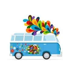 Hippie peace van vector image