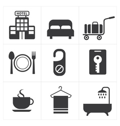 Hotel and Hotel Services Icon vector image