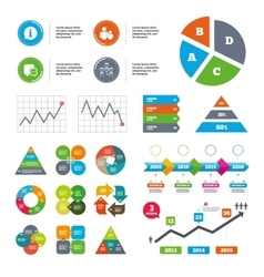 Information sign and group Communication icons vector image