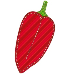 Isolated Patchwork Red Pepper vector image vector image