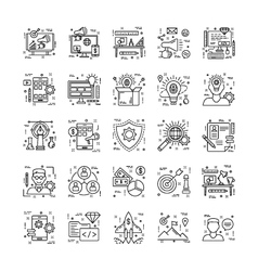 Line Icons With Detail 8 vector image