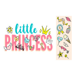 little princess lettering vector image vector image