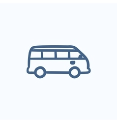 Minibus sketch icon vector image