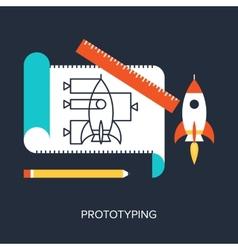 Prototyping vector image vector image