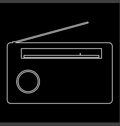 radio the white path icon vector image
