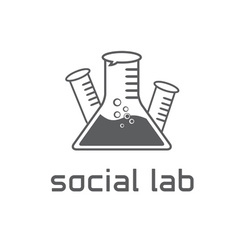 social lab concept design template vector image vector image