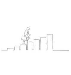 success one line drawing vector image