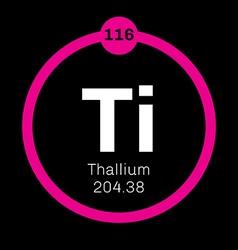 Thallium chemical element vector