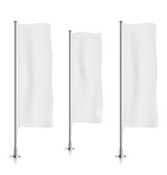 white vertical banner flag templates vector image vector image